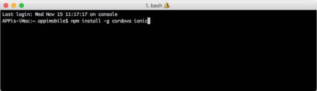 Installing Ionic and Cordova on Windows
