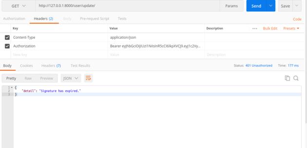 JWT_EXPIRATION_DELTA Example