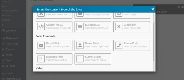 Add Layer dialoglayer types