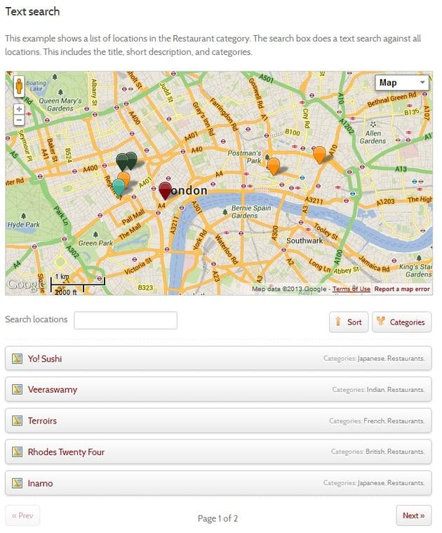Map Pro List
