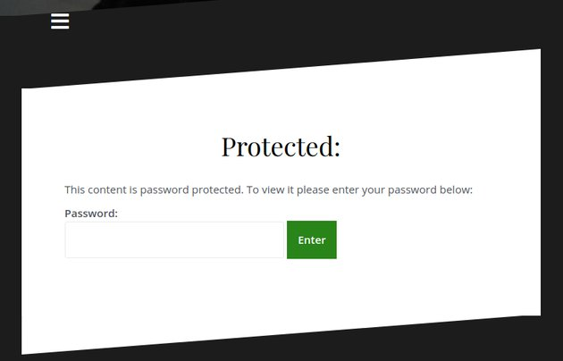 Password protection prompt