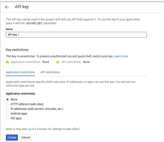 Getting a Google Maps API key