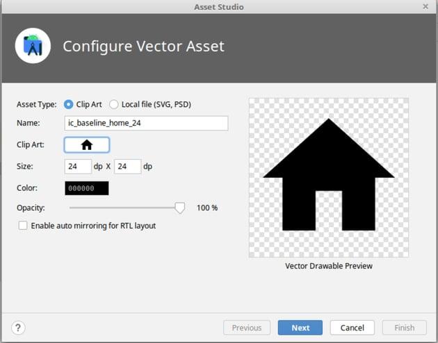 add vector asset