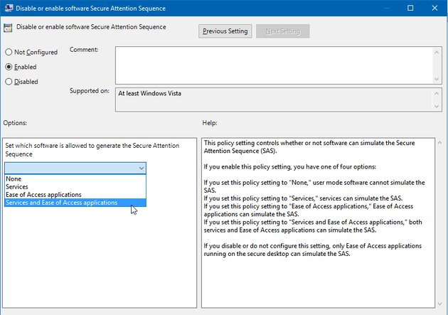 enable-software-secure-attention-sequence-in-windows