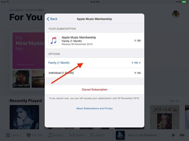 choose-family-membership-ios-device
