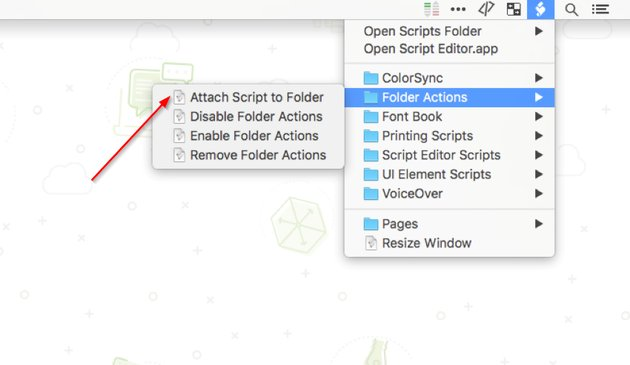 Attach script to folder by first enabling folder actions