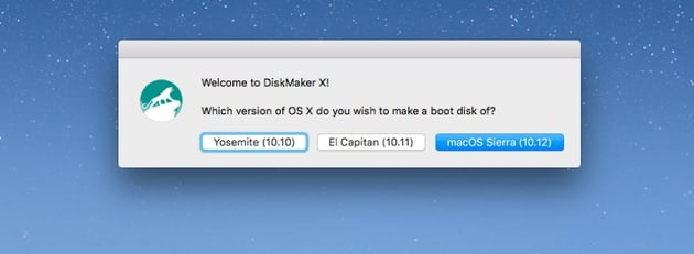Choose the macOS version for which youd like to make installer disk