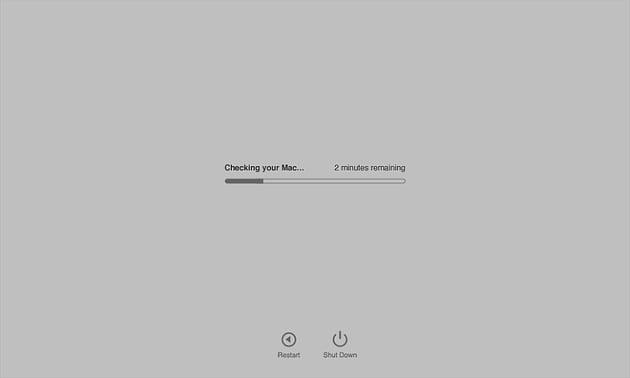 Checking the Mac indicator during Apple Diagnostics