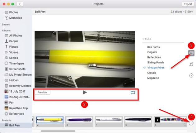 customize theme of a slideshow