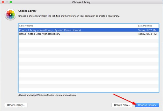 switch between photo libraries