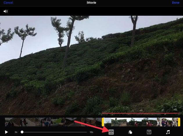 trim a clip with iMovie