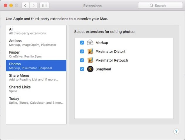check the extension in system preference pane