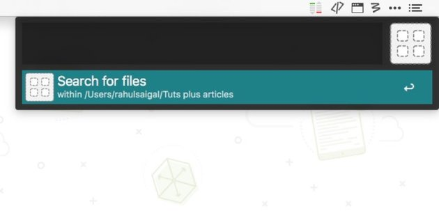 search for file in alfred app