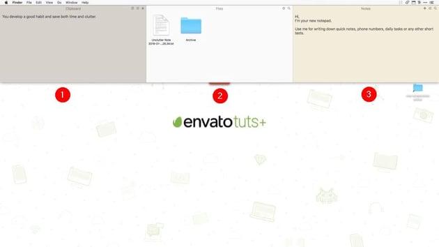 unclutter app user interface