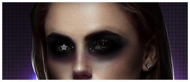 Create a star shape on pupil