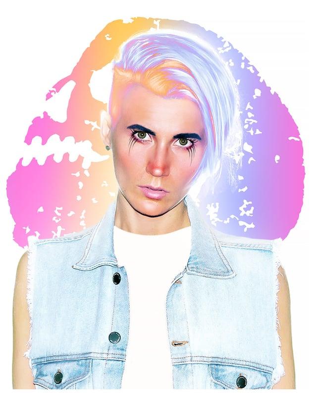 paint eyelashes