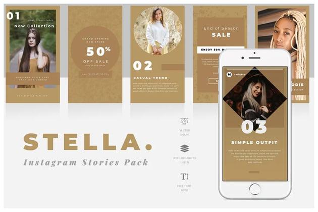 Stella Instagram Story Templates
