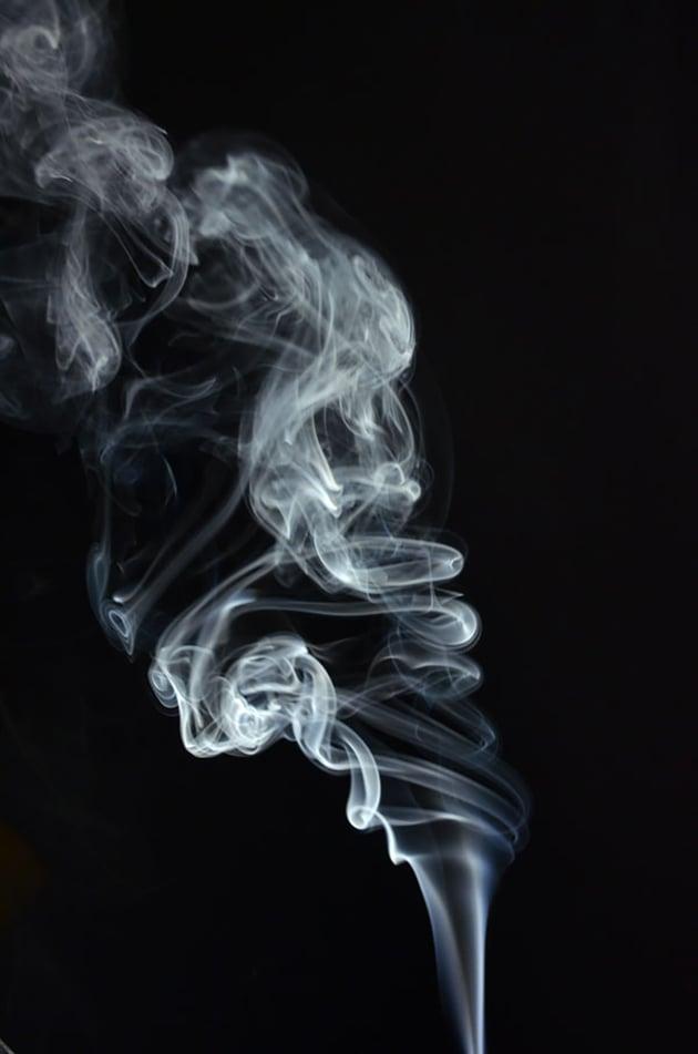 take photo of smoke