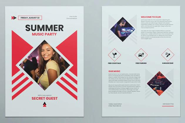 Flyer Design Maker for a Live Music Show