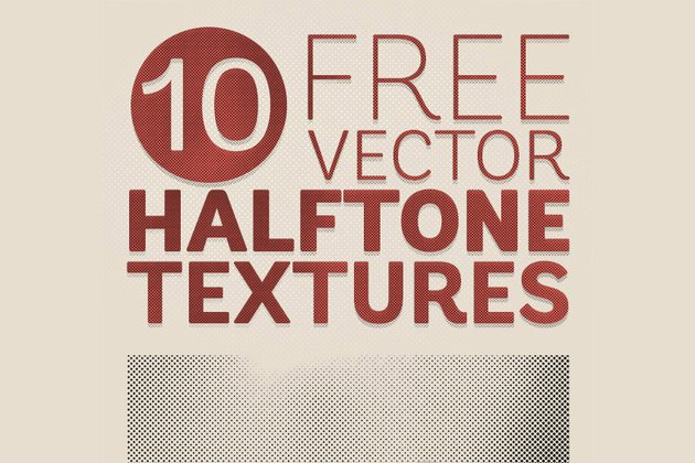 10 Free Detailed Vector Halftone Texture Backgrounds