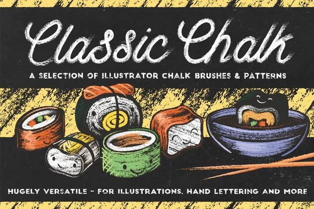 Classic Chalk - Brushes  Patterns