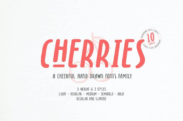 Cherries - 10 Fonts