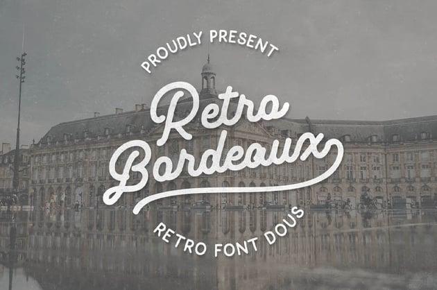 Retro Bordeaux Duos (PreLogo Design)