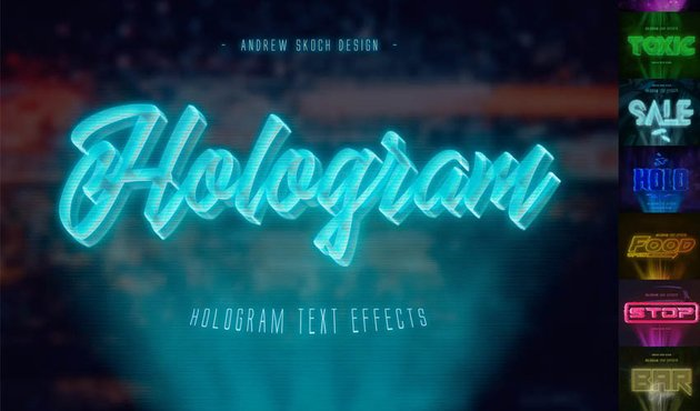 Hologram Text Effects