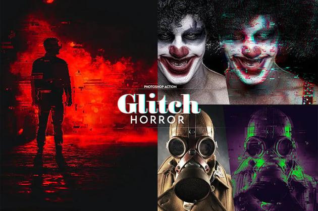 Horror Glitch Photoshop Action