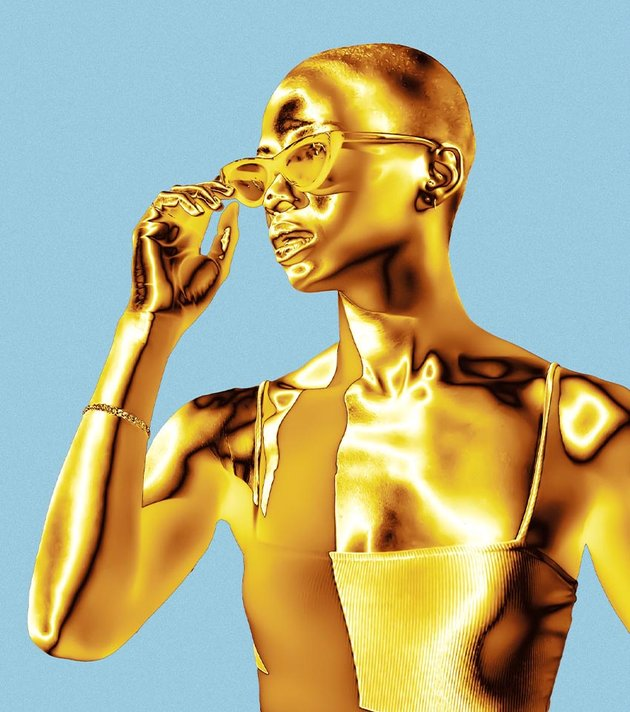 how to make a gold statue in photoshop