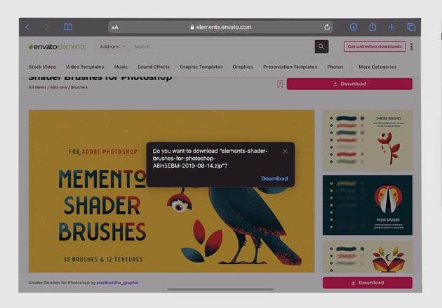 download photoshop iPad pro brushes