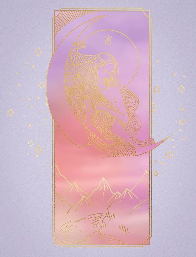 mask pastel background