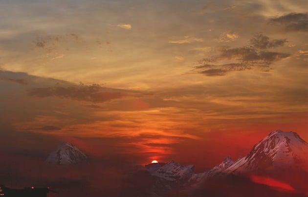 adjust mountains lighting