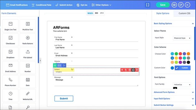 ARForms - WordPress Form Builder