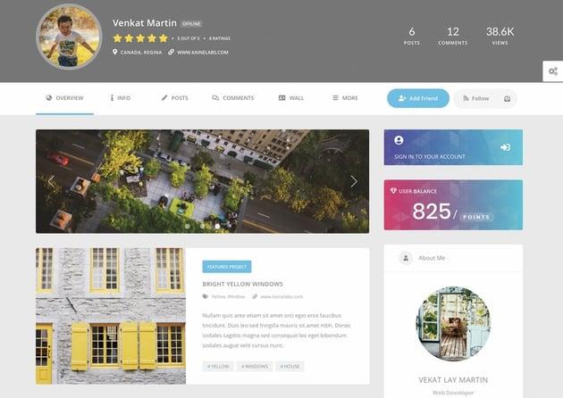 Youzify - Plugin de comunidad online de BuddyPress y perfiles de usuario para WordPress