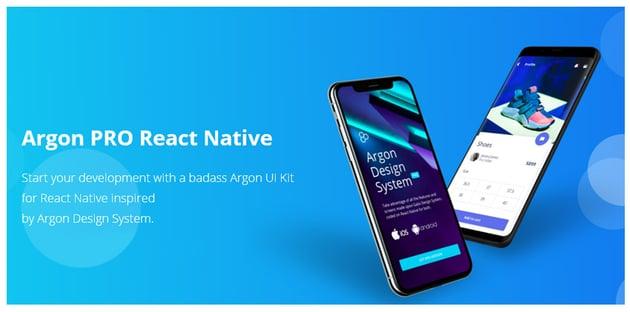 Argon React Native Expo Template Free