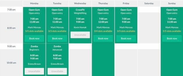Timetable - Tabla de programación responsive para WordPress