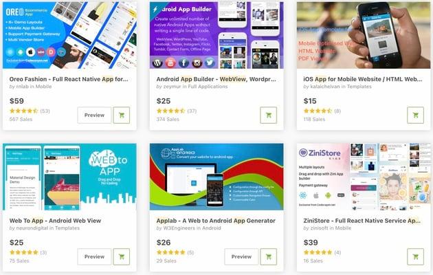 bestselling mobile app builders