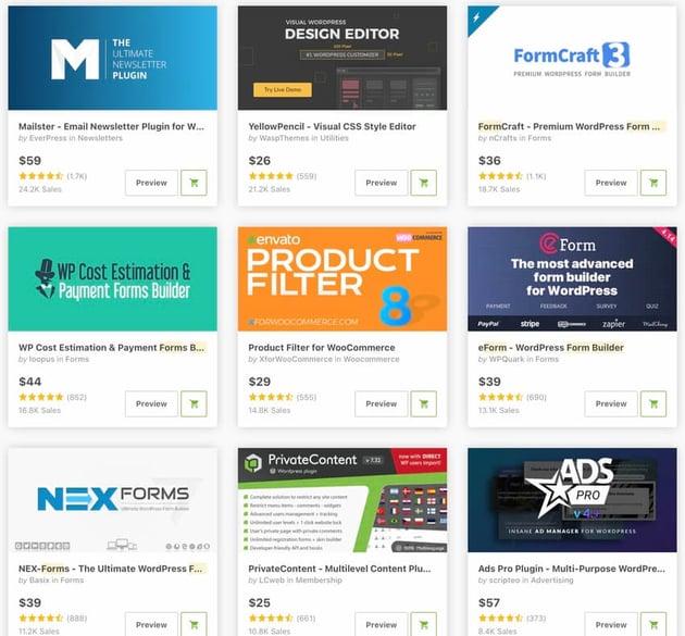 Topselling WordPress Form Builder Plugins