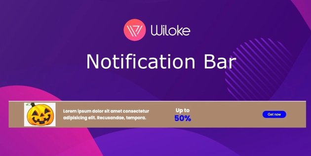 Wiloke Notification Bar Plugin
