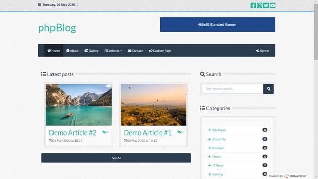 phpBlog - News, Blog & Magazine Script