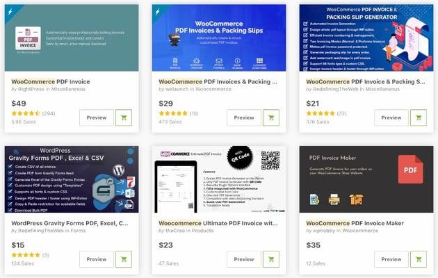 Bestselling WooCommerce PDF Invoice Plugin on CodeCanyon