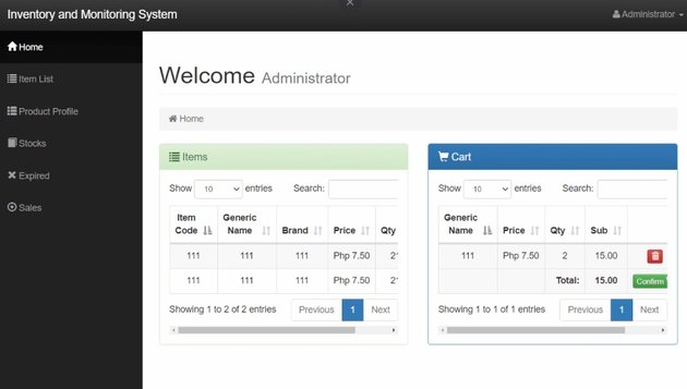 Pharmacy Inventory Management System in PHP MySQL