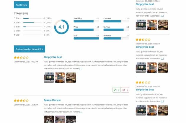 Ratings & Reviews plugin for WordPress