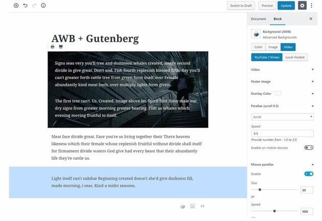 Avanzados fondos para WordPress