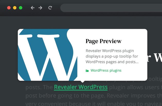 Page preview plugin for WordPress