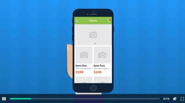 eStore - Mobile App Promo