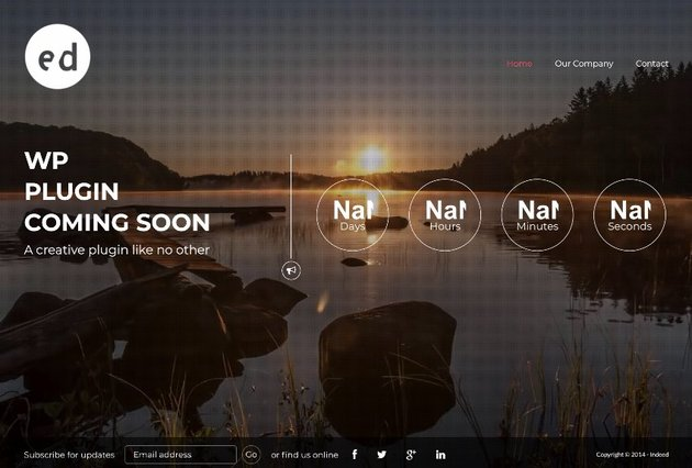 Coming Soon CountDown Responsive Wordpress Plugin