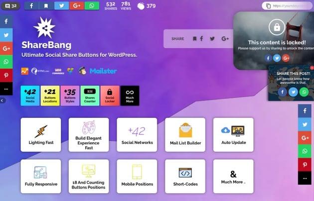 ShareBang, Ultimate Social Share Buttons for WP