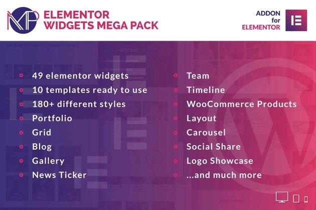 Elementor Widgets Mega Pack - Addons for Elementor